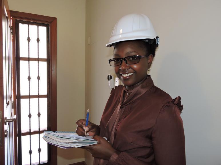 Weibliche Ingenieurin